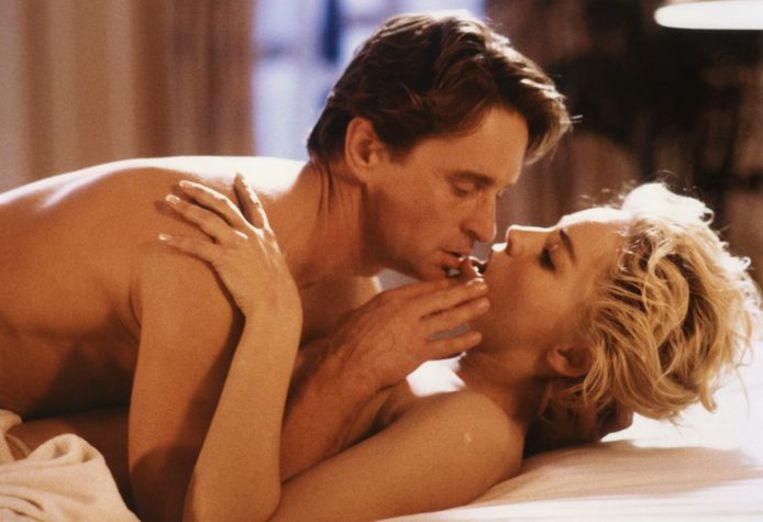 Michael Douglas & Sharon Stone in Basic Instinct (1992). Beeld