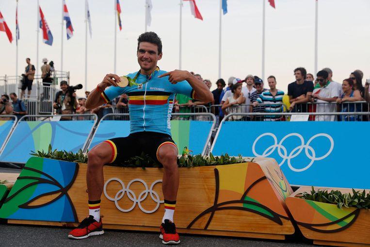 Greg Van Avermaet op de Spelen in Rio de Janeiro. Beeld AFP