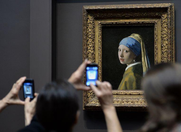 Meisje met de parel, van Johannes Vermeer. Beeld AFP