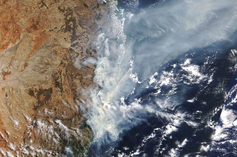 Een satellietbeeld van New South Wales