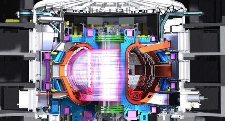 ITER bouwt de grootste fusiereactor ter wereld in het zuiden van Frankrijk. Beeld ITER