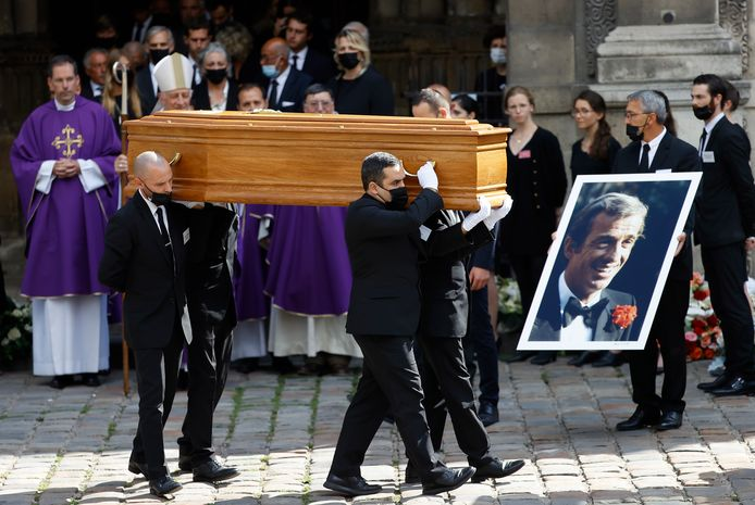 Begrafenis Jean-Paul Belmondo.