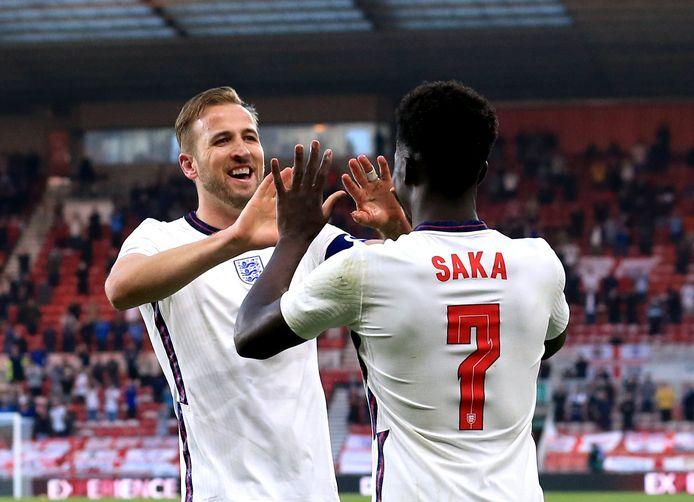 Harry Kane en Bukayo Saka.