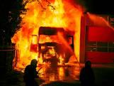 Drie mannen opgepakt voor vrachtwagenbrand waarbij Bergse chauffeur ernstig gewond raakte