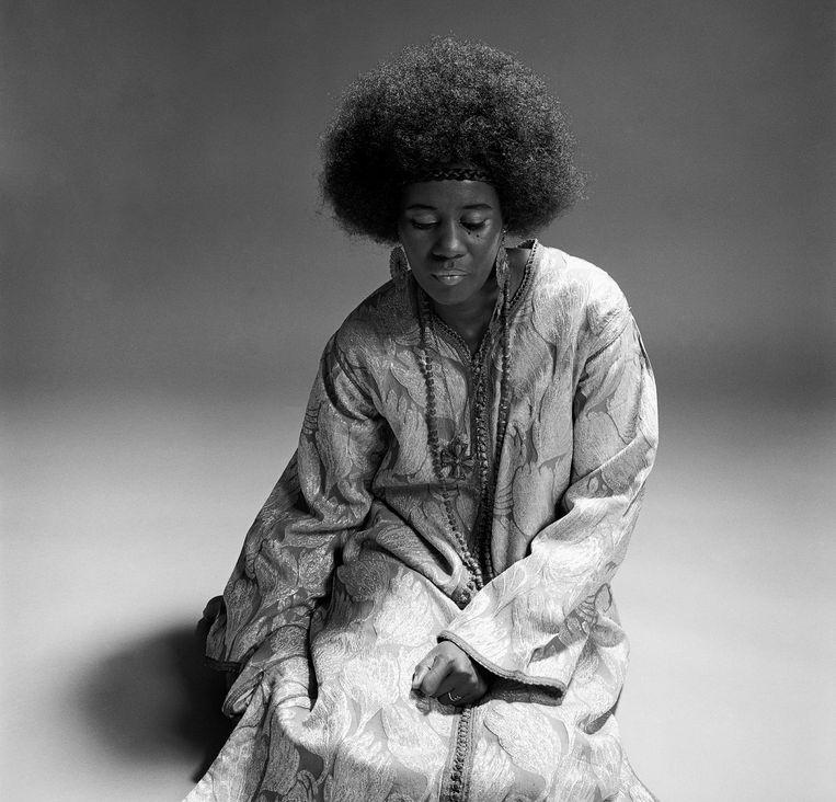 Pianist en harpist Alice Coltrane in 1970.   Beeld © Chuck Stewart Photography, LLC-Fireball Entertainment Group