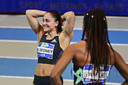 Naomi Sedney wint de 60m net voor Jamile Samuel de Nederlandse kampioenschappen (NK) atletiek.