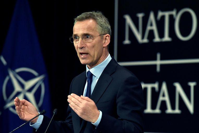 NAVO-chef Jens Stoltenberg Beeld reuters
