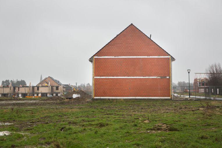 Huis in aanbouw in Zomergem. Netwerk Architecten Vlaanderen: