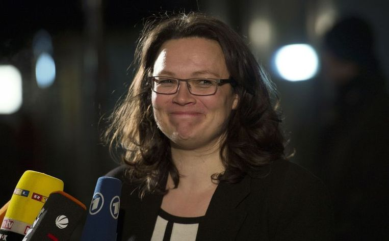 SPD-politica Andrea Nahles. Beeld AFP