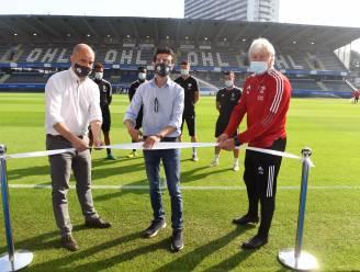 """Burgemeester Ridouani huldigt splinternieuwe grasmat van OH Leuven in: """"Dit veld kan de vergelijking doorstaan met de velden in de Premier League"""""""