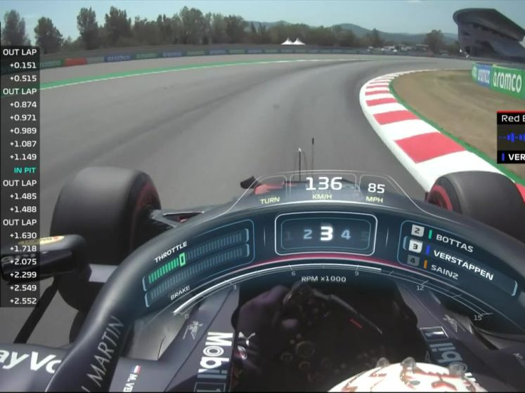 Verstappen ook achter Mercedessen in derde vrije training