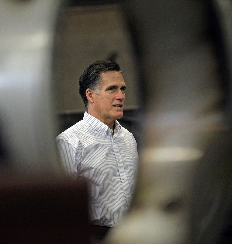 Koploper Mitt Romney. Beeld UNKNOWN