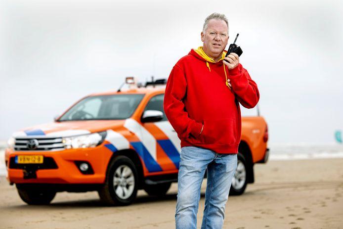 Leon van Went, lifeguard bij de Reddingsbrigade in Noordwijk.