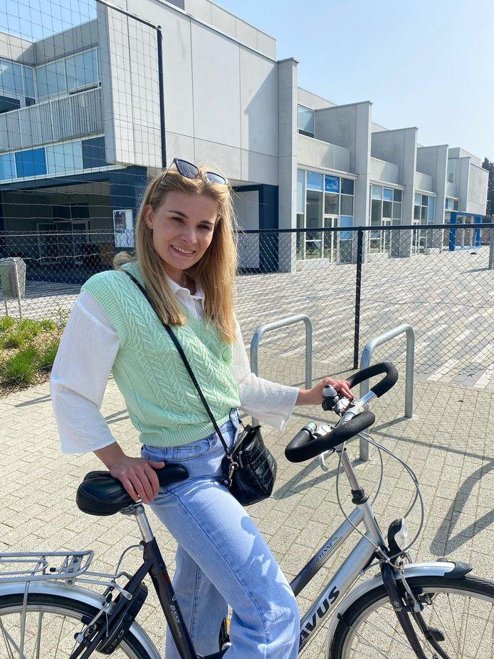Amber Vermeiren trok er alvast zelf met de fiets op uit om wat onderzoek te verrichten.