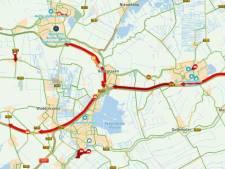 Boerenstoet op drukke A12 al voorbij Reeuwijk, ook N11 slibt dicht met tractoren