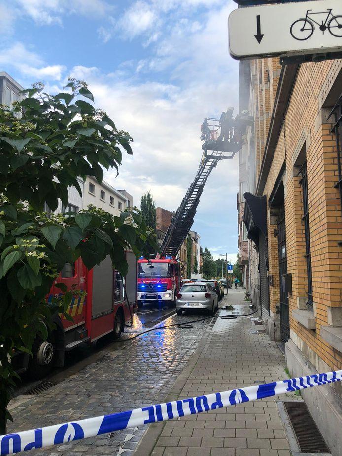 De brand in de Patriottenstraat was snel geblust.