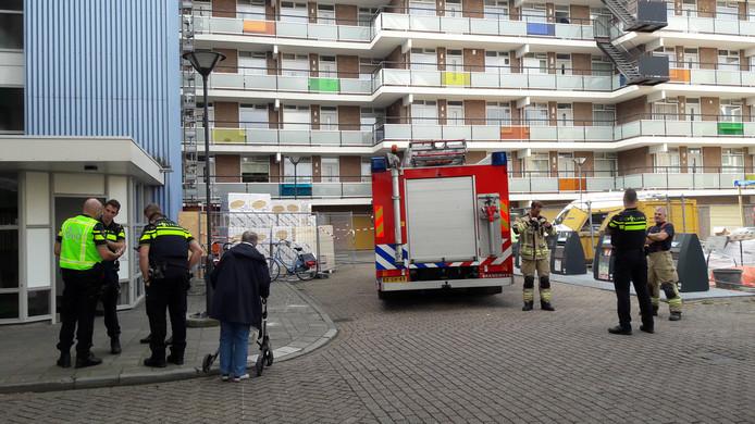 De brandweer hoefde alleen nog een nacontrole te doen. Het brandje in woonzorgcentrum De Schutterij was al met een poederblusser bestreden.