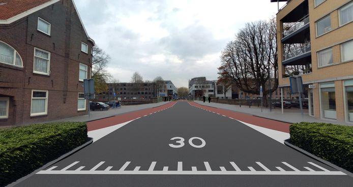 De Rückertbrug naar de Van Berckelstraat toe blijft open voor autoverkeer.