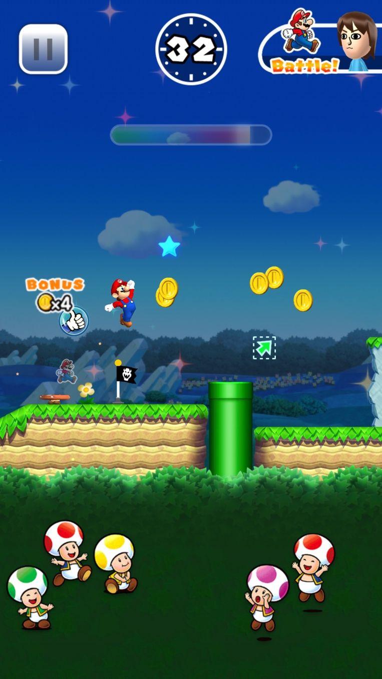 Een beeld uit Super Mario Run. Beeld RV Nintendo