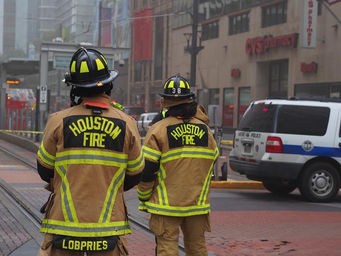 Brandweerlieden in actie in Houston (foto ter illustratie)