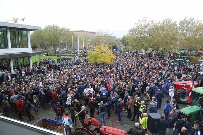 Boerenprotest in Zwolle.