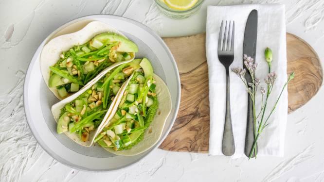Wat Eten We Vandaag: Tortilla's met groene groenten en esfenaj