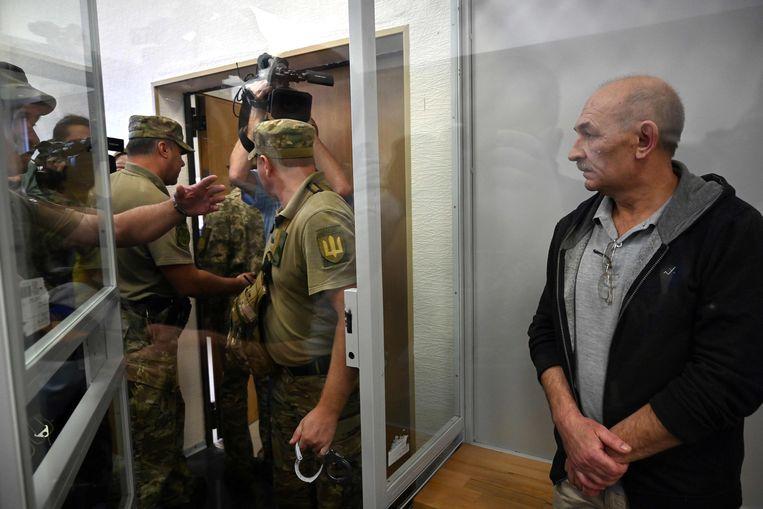 Vladimir Tsemach werd in september vrijgelaten uit zijn voorlopige hechtenis in Kiev om te worden geruild met Oekraïense gevangenen in Rusland. Beeld AFP