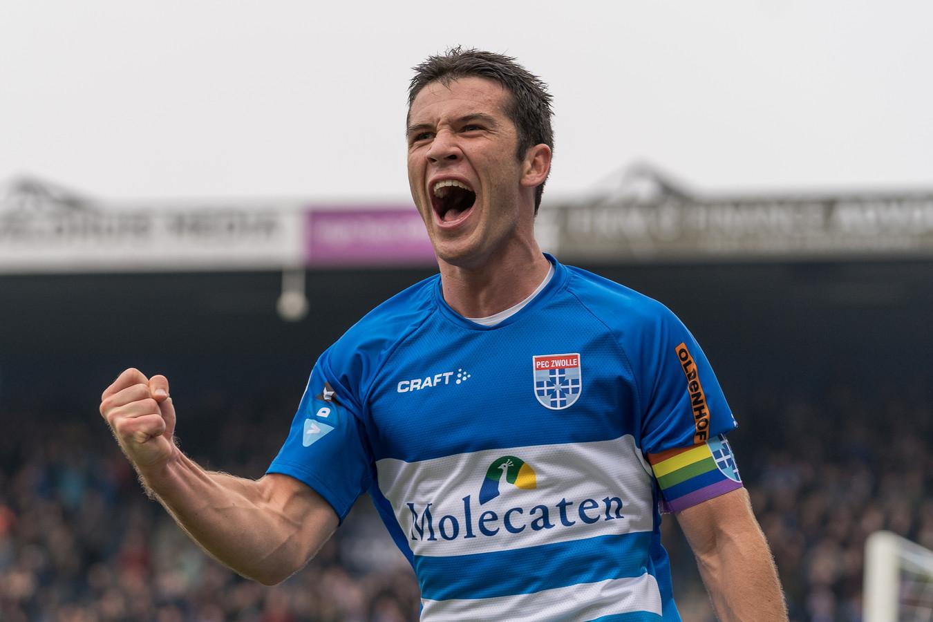 PEC Zwolle-aanvoerder Pelle Clement.