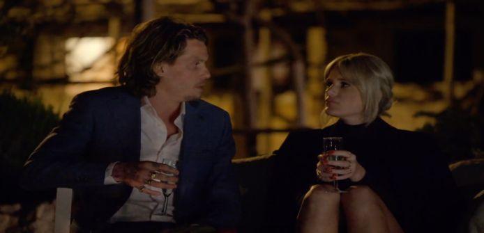 Tony en Roos tijdens de date.
