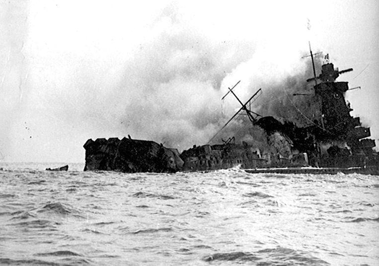 Archiefbeeld. Op 17 december 1939 bracht de kapitein de kruiser Graf Spee tot zinken net buiten de haven van Montevideo.