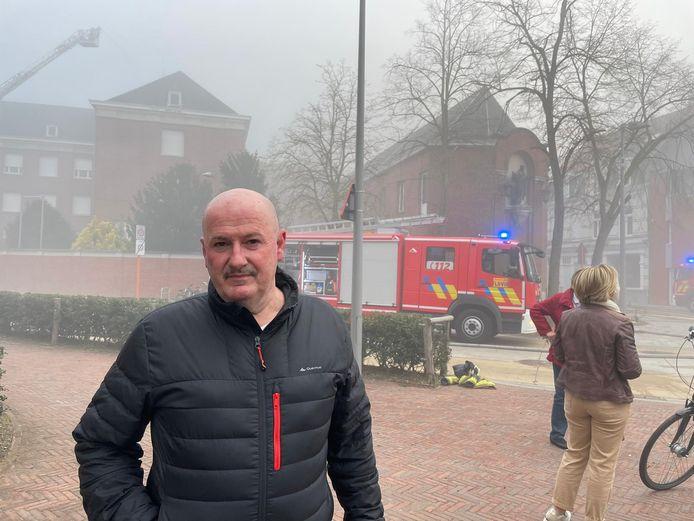 Technicus-vrijwilliger Eddy Vandooren was als eerste ter plaatse.