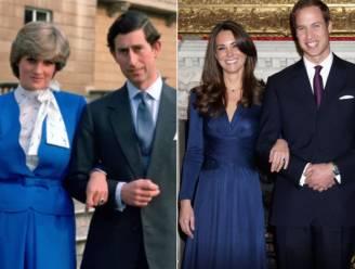 """Diana's verlovingsring was eigenlijk van prins Harry, toch gaf hij hem aan William en Kate: """"Zo graag zag hij hen"""""""