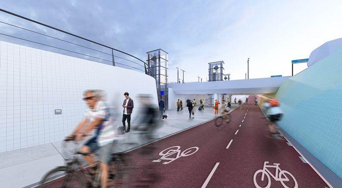 Het station krijgt onder meer een fiets- en voetgangerstunnel