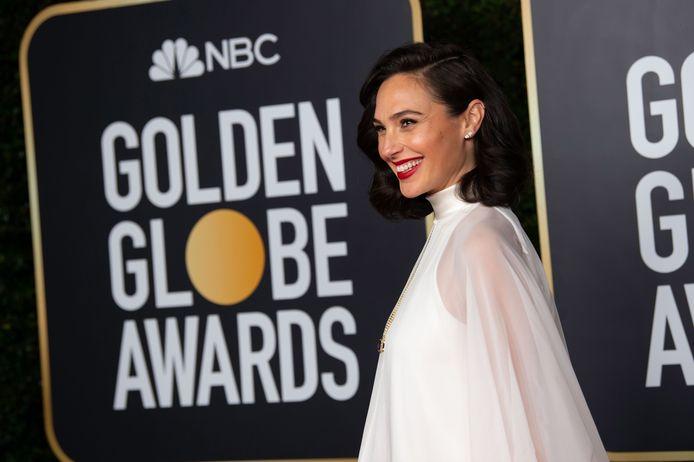 Gal Gadot op de rode loper bij de Golden Globes eind februari.