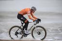 Mathieu van der Poel tijdens de UCI Cyclocross World Championships in Oostende.