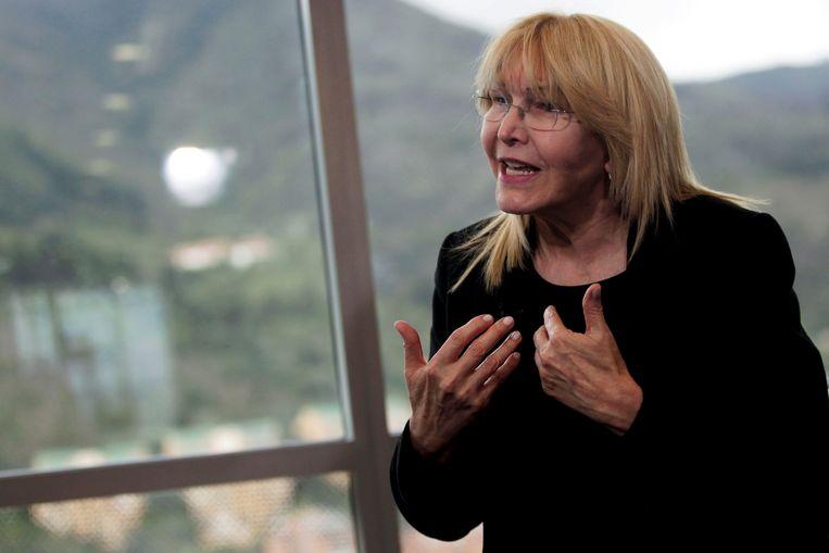 Voormalig hoofdaanklager Luisa Ortega die na kritiek op de regering Venezuela moest ontvluchten. Beeld REUTERS