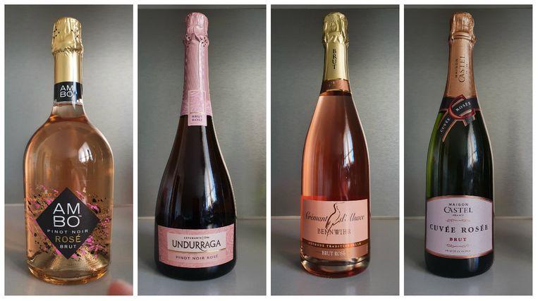 3. Ambo Seco Spumante Rosé | 4. Undurraga Espumante | 5. Bennwihr Crémant d'Alsace Brut | 6. Maison Castel Cuvée Rosée Brut