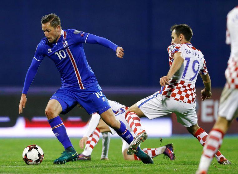 Gylfi Sigurdsson tegen Kroatië.
