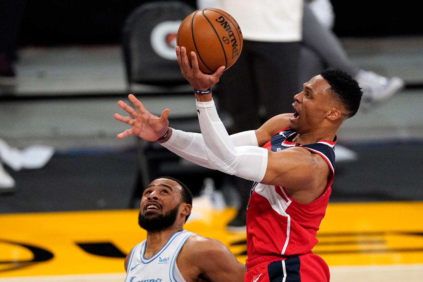 Russell Westbrook maakte 32 punten in de wedstrijd.