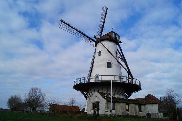 Ook de recent gerestaureerde Mevrouwmolen in Kanegem is zondag te bezoeken.
