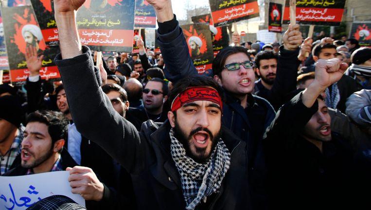 In Iran werd bijzonder fel gereageerd op de executie van Nimr al-Nimr. Beeld reuters / afp / epa