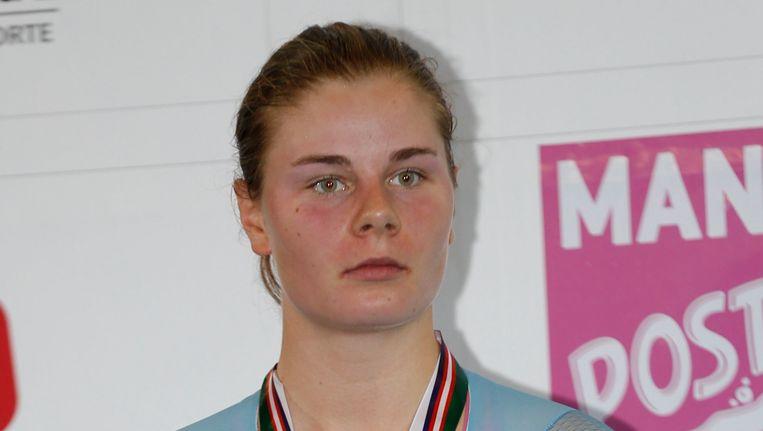 Lotte Kopecky veroverde vorig weekend nog zilver op de Wereldbeker piste in Cali. Beeld BELGA
