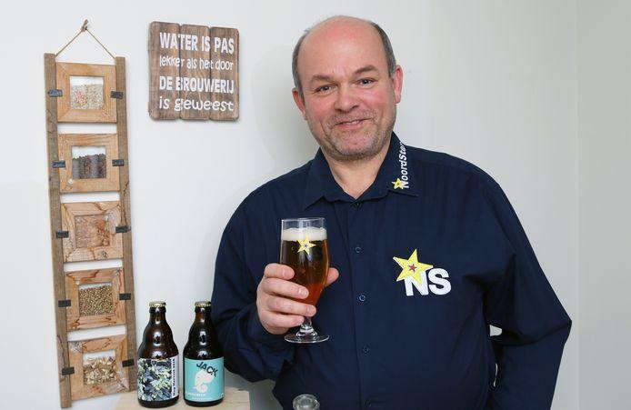 Norman Sterkens (NoordSter) presenteert op het Laakdals Bierfestival 2 primeurs: Jack's Coffee en Hop Harvest 2018.