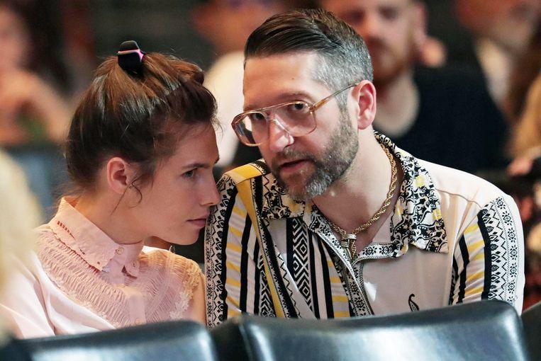Amanda Knox met haar verloofde Christopher Robinson