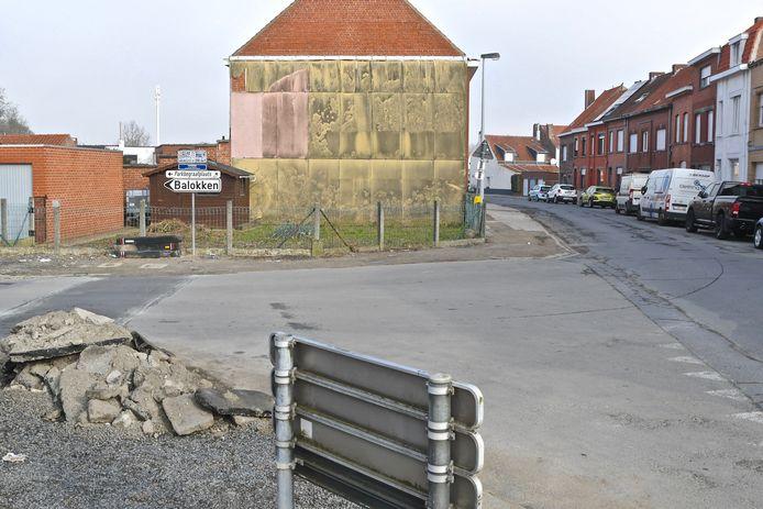 Ook in het laatste deel van de Barrierestraat richting de Komentraat komen er nieuwe voetpaden