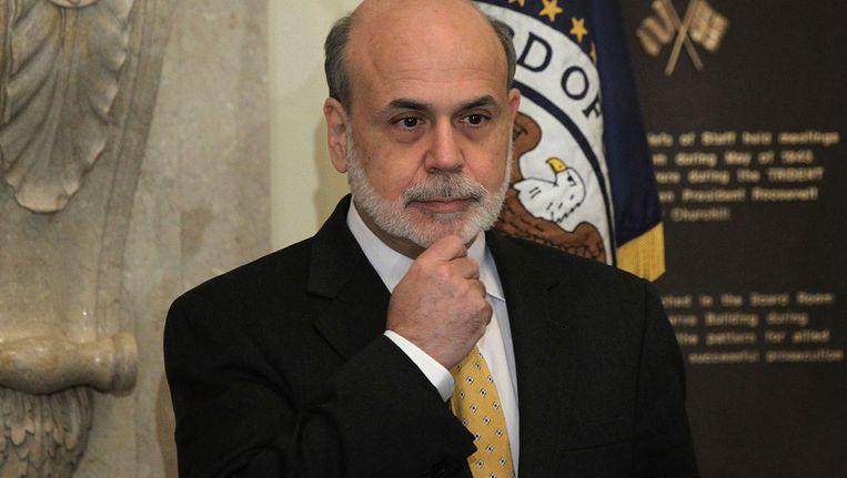 Ben Bernanke, Hoofd van de Amerikaanse centrale bank. Beeld AFP
