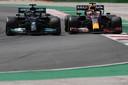 Hamilton naast Verstappen in Portimao.