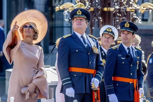 Koning Willem Alexander , Koningin Maxima en Majoor-vlieger Roy de Ruiter