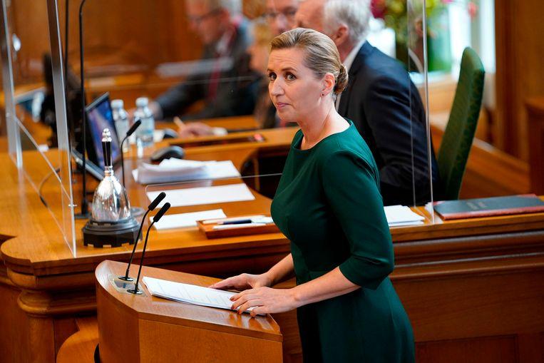 Deens premier Mette Frederiksen. Beeld AFP