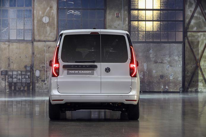 VW Caddy, foto ter illustratie.